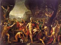 Jacques-Louis David : Leonidas at Thermopylae